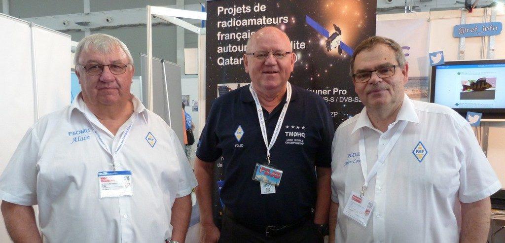 Alain F5OMU, Gerard F2JD , Jean Louis F5DJL